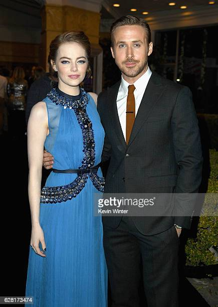 Actors Emma Stone and Ryan Gosling attend the premiere of Lionsgate's 'La La Land' at Mann Village Theatre on December 6 2016 in Westwood California