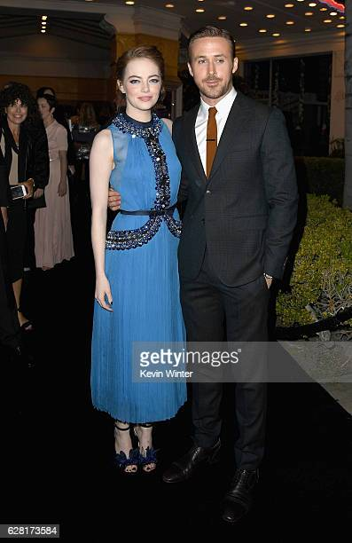 Actors Emma Stone and Ryan Gosling attend the premiere of Lionsgate's La La Land at Mann Village Theatre on December 6 2016 in Westwood California