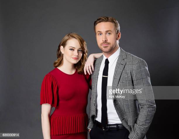 Actors Emma Stone and Ryan Gosling of 'La la Land' are photographed for Los Angeles Times on January 30 2017 in Los Angeles California PUBLISHED...