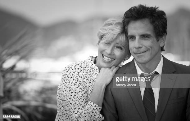 Actors Emma Thompson and Ben Stiller attend 'The Meyerowitz Stories' photocall during the 70th annual Cannes Film Festival at on May 21 2017 in...