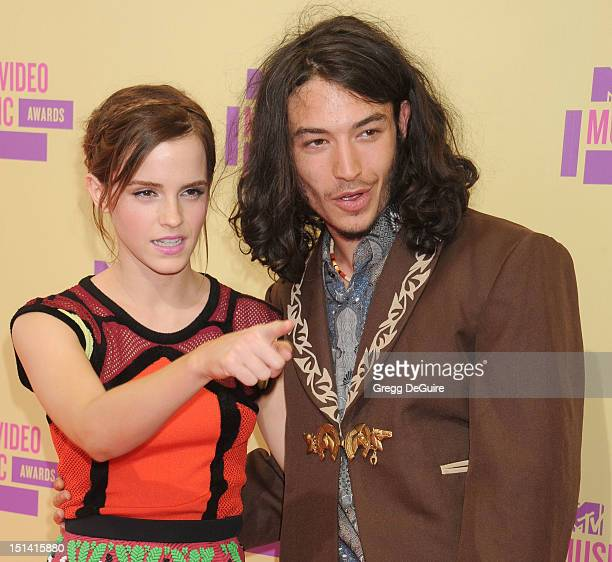 Actors Emma Watson and Ezra Miller arrive at 2012 MTV Video Awards at Staples Center on September 6 2012 in Los Angeles California