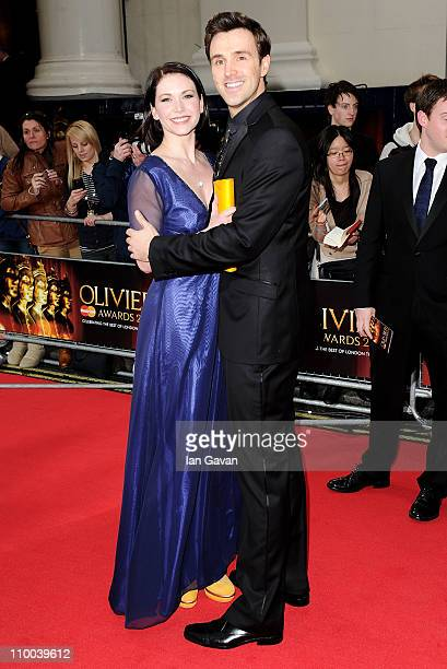 Actors Emma Williams and Michael Xavier attend The Olivier Awards 2011 at Theatre Royal on March 13 2011 in London England