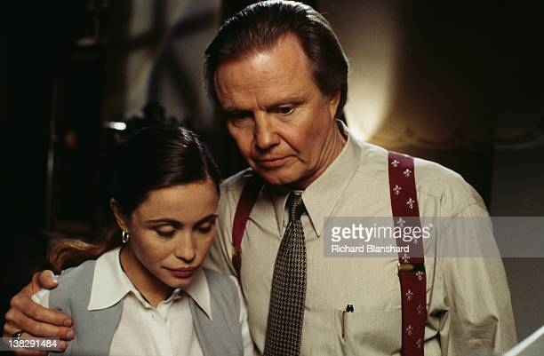 Actors Emmanuelle Beart as Claire Phelps and Jon Voight as Jim Phelps in a scene from the film 'Mission Impossible' 1996