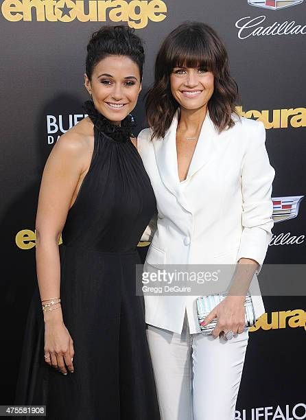 Actors Emmanuelle Chriqui and Carla Gugino arrive at the Los Angeles premiere of 'Entourage' at Regency Village Theatre on June 1 2015 in Westwood...