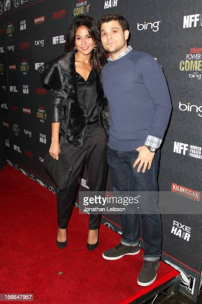 Actors Emmanuelle Chriqui and Jerry Ferrara arrive at Variety's 3rd annual Power of Comedy event presented by Bing benefiting the Noreen Fraser...