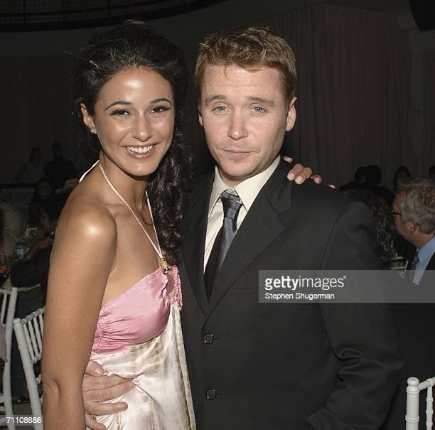Actors Emmanuelle Chriqui and Kevin Connolly attend the after party following the premiere of HBO's Entourage at the Hollywood Social on June 1 2006...
