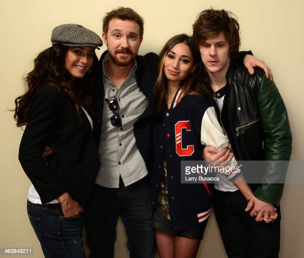 Actors Emmanuelle Chriqui Sam Huntington and Meaghan Rath and filmmaker Pat Kiely pose for a portrait during the 2014 Slamdance Film Festival at the...