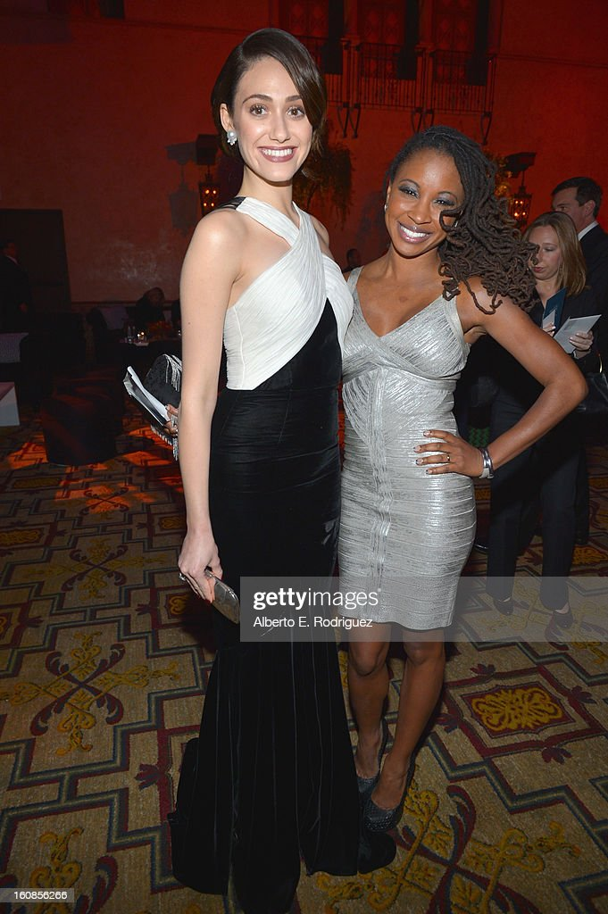Actors Emmy Rossum and Shanola Hampton attend the after party for the Los Angeles premiere of Warner Bros. Pictures' 'Beautiful Creatures' at TCL Chinese Theatre on February 6, 2013 in Hollywood, California.