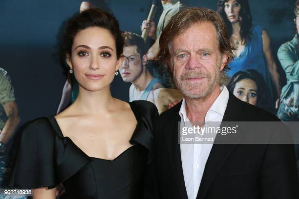 Actors Emmy Rossum and William H Macy attend Emmy For Your Consideration Event For Showtime's Shameless at Linwood Dunn Theater on May 24 2018 in Los...