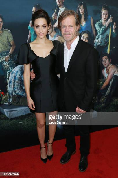 """Actors Emmy Rossum and William H. Macy attend Emmy For Your Consideration Event For Showtime's """"Shameless"""" at Linwood Dunn Theater on May 24, 2018 in..."""