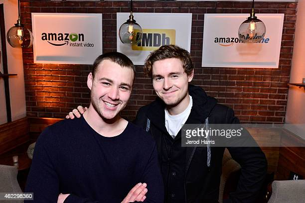 Actors Emory Cohen and Callan McAuliffe attend the IMDb Amazon Instant Video Studio on January 26 2015 in Park City Utah