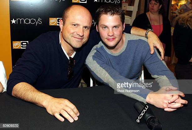 Actors Enrico Colantoni and Teddy Dunn from cast of 'Veronica Mars' appear at Macy's Herald Square on April 9 2005 in New York City