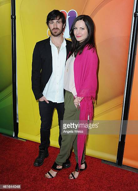 Actors Eoin Macken and Jill Flint arrive at NBCUniversal's 2015 Winter TCA Tour Day 2 at The Langham Huntington Hotel and Spa on January 16 2015 in...