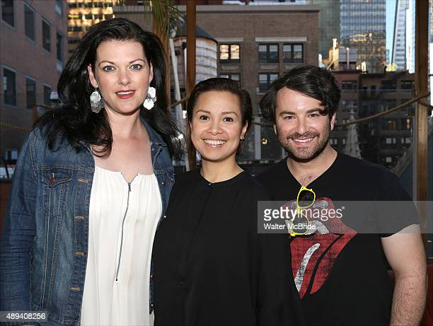 Actors' Equity President Kate Shindle Lea Salonga and Alex Brightman attend the Actors' Equity Season Opener Mixer at Haven Rooftop atThe Sanctuary...
