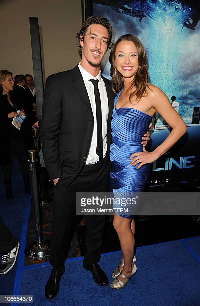 Actors Eric Balfour and Scottie Thompson arrive at the premiere of Rogue Pictures' Skyline on November 9 2010 in Los Angeles California