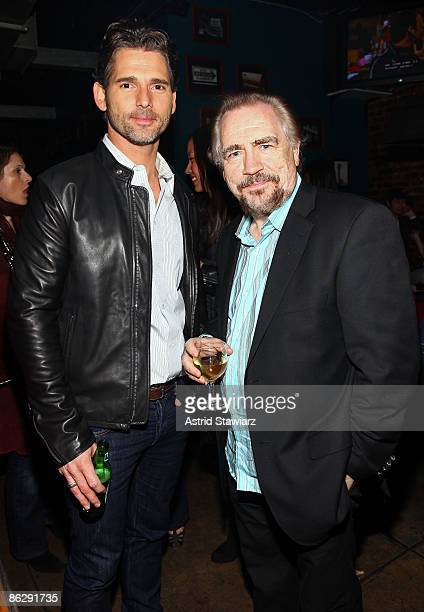 Actors Eric Bana and Brian Cox attends the after party for Love The Beast during the 2009 Tribeca Film Festival at Ace Bar on April 29 2009 in New...