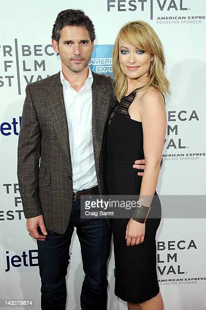 Actors Eric Bana and Olivia Wilde attends the DeadFall Premiere during the 2012 Tribeca Film Festival at the Borough of Manhattan Community College...