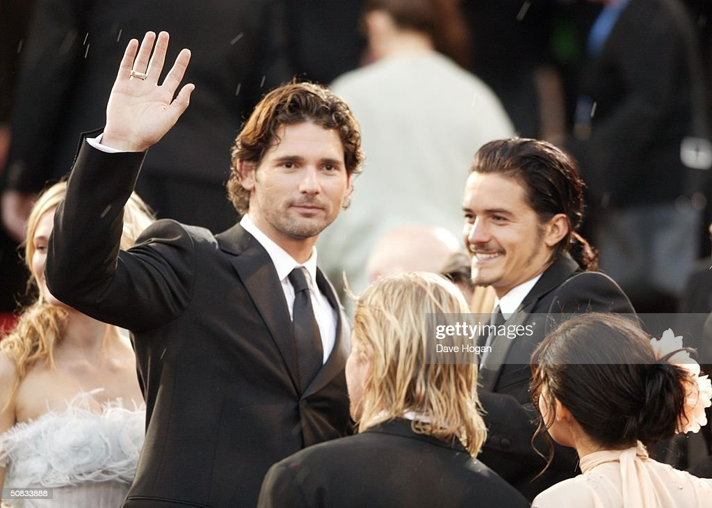 Actors Eric Bana and Orlando Bloom attend the World Premiere of epic movie 'Troy' at Le Palais de Festival on May 13, 2004 in Cannes, France.