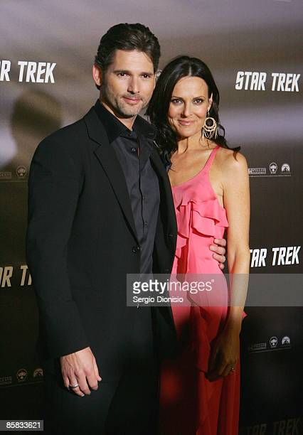 Actors Eric Bana and Rebecca Gleeson arrive for the World Premiere of JJ Abram's 'Star Trek' at the Sydney Opera House on April 7 2009 in Sydney...