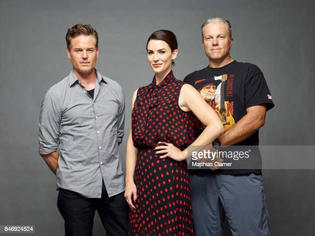 Actors Eric Dane Bridget Regan and Adam Baldwin from 'The Last Ship' are photographed for Entertainment Weekly Magazine on July 21 2016 at Comic Con...