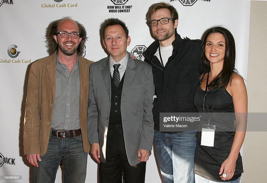 Actors Eric Lange, Michael Emerson, Neil Hopkins and Andrea Gabriel arrive at the 'Lost' Series Finale Party hosted by Michael Purcell at the Orpheum Theatre on May 23, 2010 in Los Angeles, California.