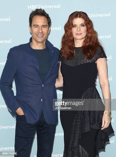 Actors Eric McCormack and Debra Messing attend the 2018 NBCUniversal Upfront presentation at Rockefeller Center on May 14 2018 in New York City