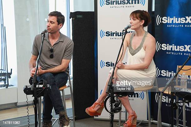 Actors Eric McCormack and Julia Murney visits Seth Rudetsky's Seth Speaks at SiriusXM Studios on July 2 2012 in New York City