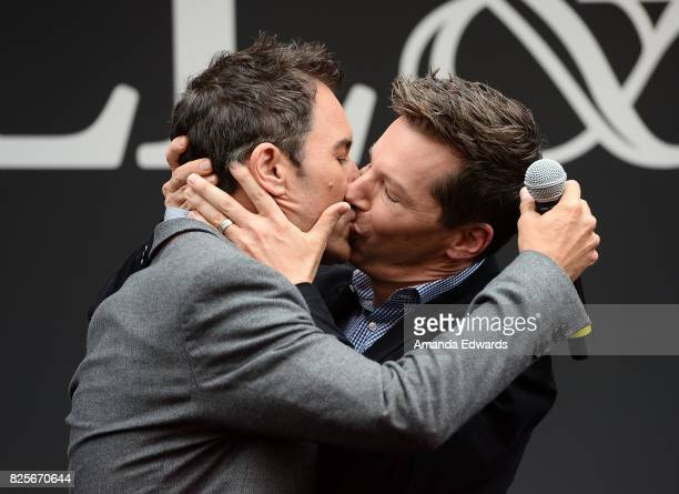 Actors Eric McCormack and Sean Hayes attend the 'Will Grace' start of production kick off event and ribbon cutting ceremony at Universal City Plaza...