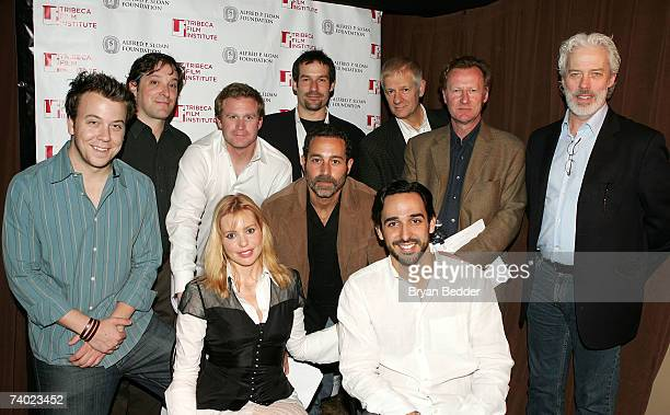 Actors Eric Miller Jeremy Shamos Alex Cranmer Ian Kahn Tom Bloom Daniel Gerroll Terrence Mann Olivia D'Abo Waleed Zuaiter and Amir Arison attend the...
