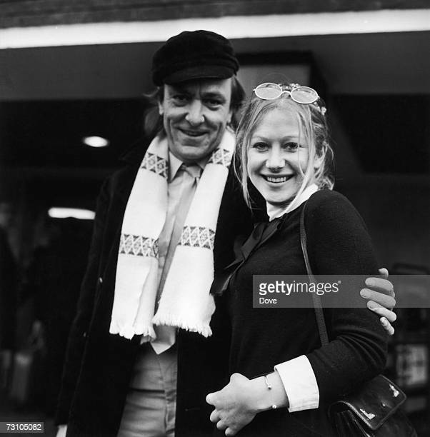 Actors Eric Porter and Helen Mirren of the RSC arrive at London Airport 4th January 1969