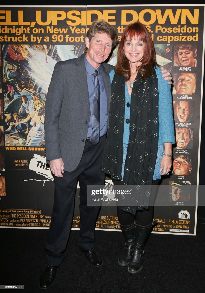Actors Eric Shea (L) and Pamela Sue Martin attend the screening for the 40th Anniversary of 'The Poseidon Adventure' at the American Cinematheque's Egyptian Theatre on December 29, 2012 in Hollywood, California.