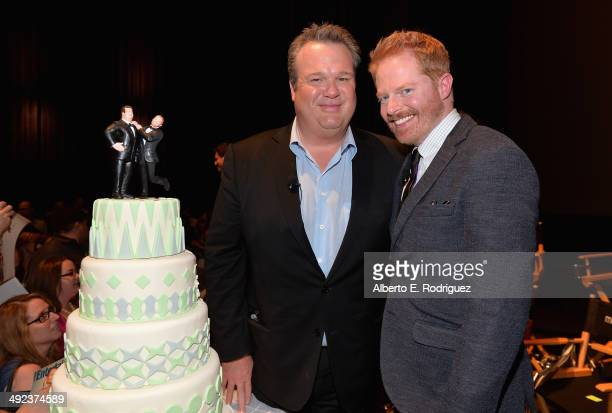 """Actors Eric Stonestreet and Jesse Tyler Ferguson attend a """"Modern Family"""" Wedding episode screening at Zanuck Theater at 20th Century Fox Lot on May..."""