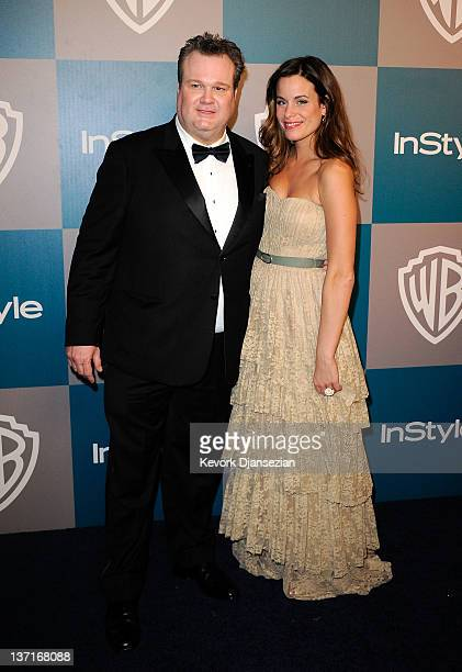 Actors Eric Stonestreet and wife Katherine Tokarz arrive at 13th Annual Warner Bros And InStyle Golden Globe Awards After Party at The Beverly Hilton...