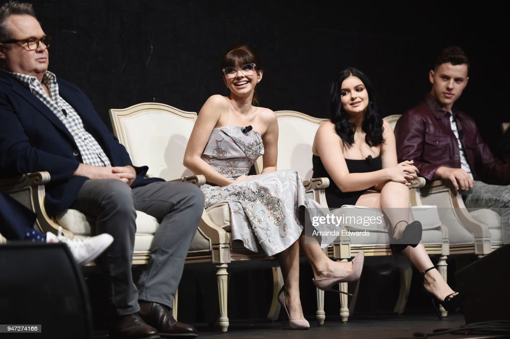 Actors Eric Stonestreet, Sarah Hyland, Ariel Winter and Nolan Gould attend the FYC Event for ABC's 'Modern Family' at Avalon on April 16, 2018 in Hollywood, California.