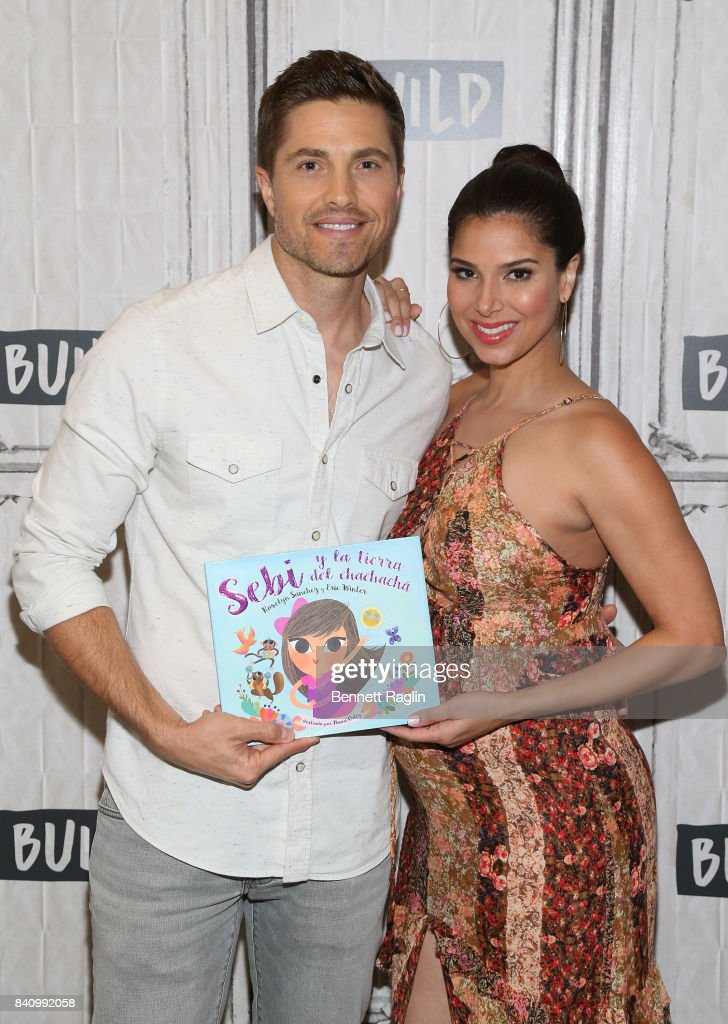 Actors Eric Winter and Roselyn Sanchez attend Build to discuss their children's book Sebi and the Land of Cha Cha Cha' at Build Studio on August 30, 2017 in New York City.