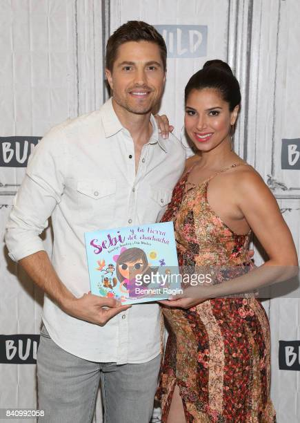 "Actors Eric Winter and Roselyn Sanchez attend Build to discuss their children's book Sebi and the Land of Cha Cha Cha"" at Build Studio on August 30,..."