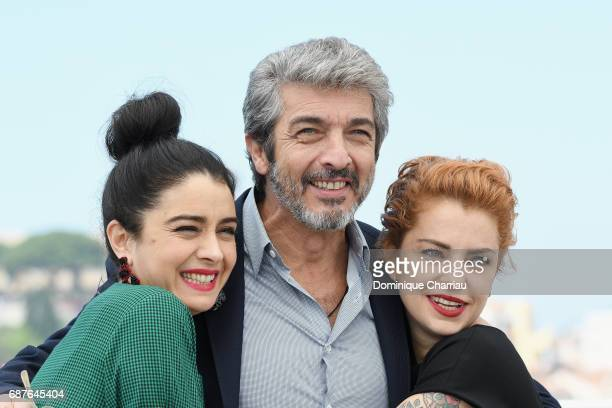 Actors Erica Rivas Ricardo Darin and Dolores Fonzi attend the 'La Cordillera El Presidente' photocall during the 70th annual Cannes Film Festival at...