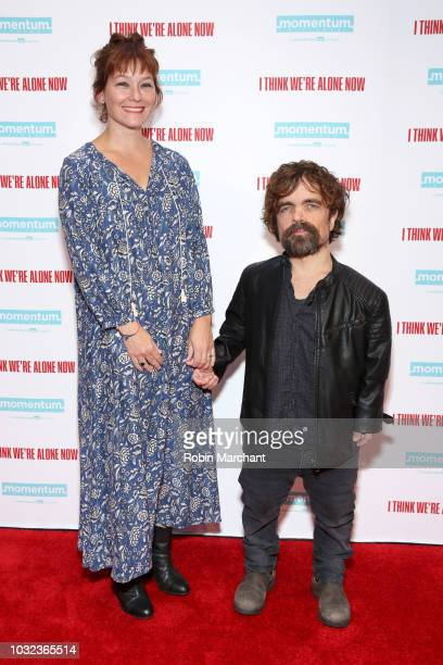 Actors Erica Schmidt and Peter Dinklage attend the New York Special Screening Of 'I Think We're Alone Now' on September 12 2018 at the Dolby 88...