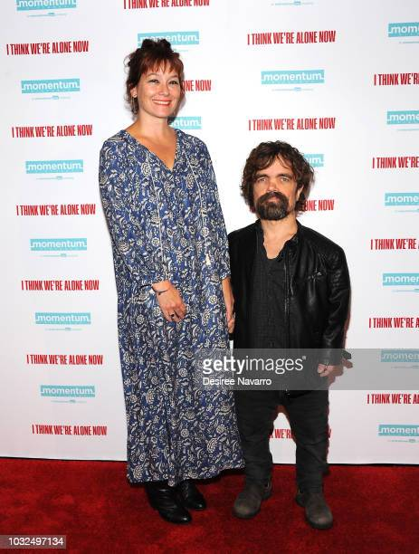 Actors Erica Schmidt and Peter Dinklage attend the New York Special Screening of 'I Think We're Alone Now' at the Dolby 88 Theater on September 12...