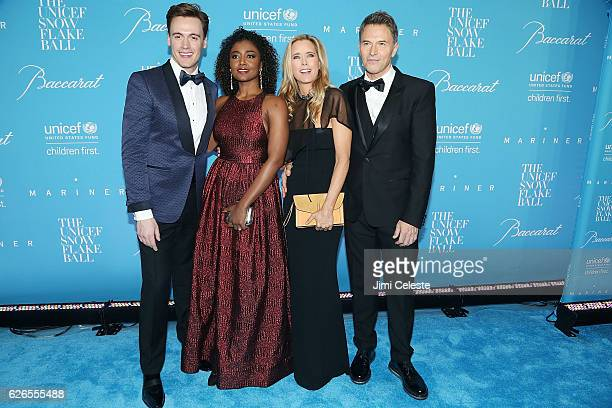 Actors Erich Bergen Patina Miller Tea Leoni and Tim Daly attends the 12th Annual UNICEF Snowflake Ball at Cipriani Wall Street on November 29 2016 in...