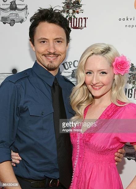Actors Erik Davies and Stephaie Ann Davies arrive at the premiere of 'Pig Hunt' on May 5 2009 in Hollywood California