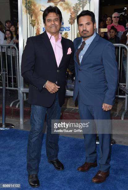 Actors Erik Estrada and Michael Pena arrive at the premiere of Warner Bros Pictures' 'CHIPS' at TCL Chinese Theatre on March 20 2017 in Hollywood...