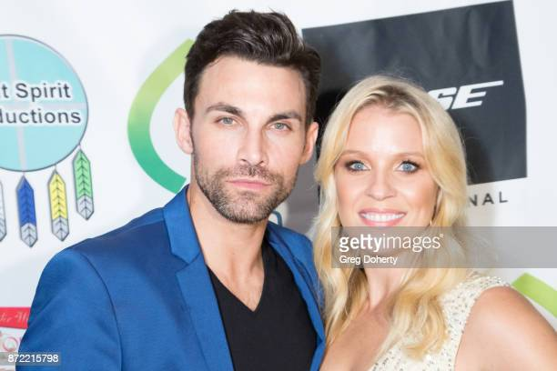 Actors Erik Fellows and Alicia Leigh Willis attend the 11th Annual Hollywood FAME Awards at Hard Rock Cafe Hollywood CA on November 8 2017 in...