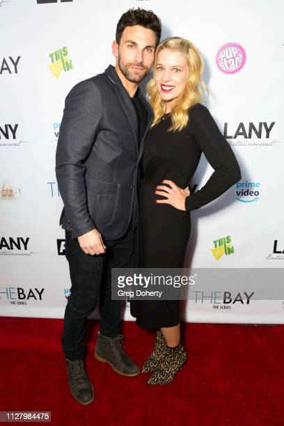 Actors Erik Fellows and Alicia Leigh Willis attend the 8th Annual LANY Mixer at Pearl's on February 26 2019 in West Hollywood California