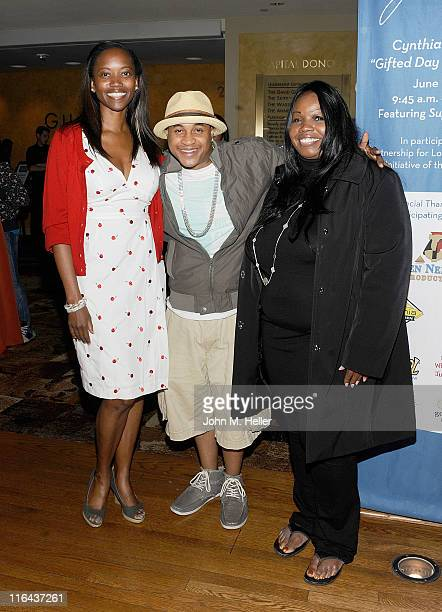 Actors Erika Alexander Orlando Brown and philanthropist Cynthia Stafford attend the 1st Annual Cynthia Stafford's Gifted Day At The Geffen Playhouse...