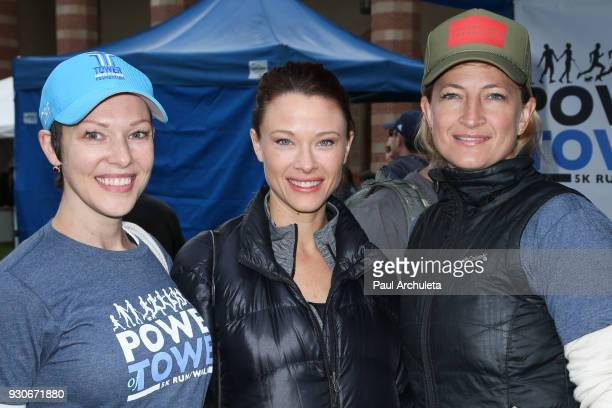 Actors Erin Cummings Scottie Thompson and Zoe Bell attend the 'Power Of Tower' run/walk at UCLA on March 11 2018 in Los Angeles California