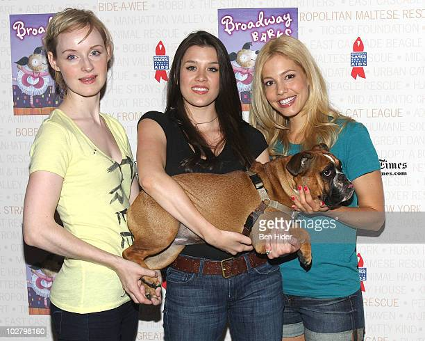 Actors Erin Davie Ramona Mallory and Leigh Ann Larkin attend the 12th annual Broadway Barks in Shubert Alley on July 10 2010 in New York City