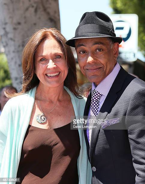 Actors Erin Gray and Giancarlo Esposito attend the ceremony honoring Giancarlo Esposito with a Star on the Hollywood Walk of Fame on April 29 2014 in...