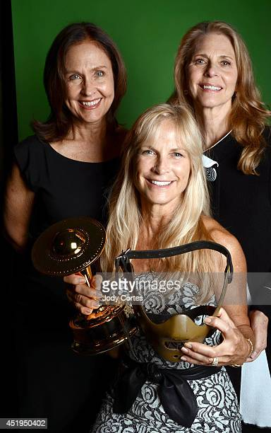 Actors Erin Gray Lindsay Wagner and producer Martha De Laurentiis pose for a portrait at the 40th Annual Saturn Awards held at The Castaway on June...