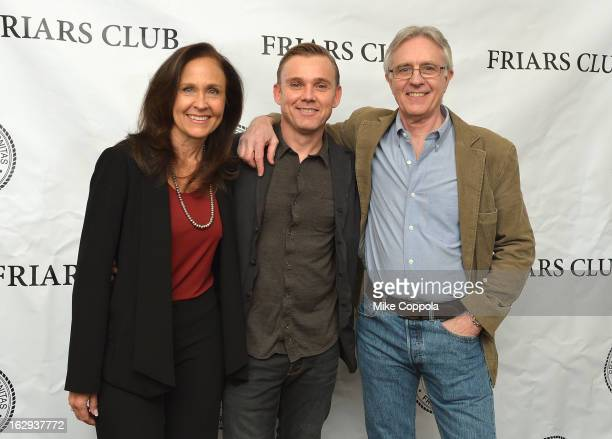 Actors Erin Gray Ricky Schroder and John Higgins attend The Friars Club So You Think You Can Roast Celebrating Ricky Schroder at New York Friars Club...